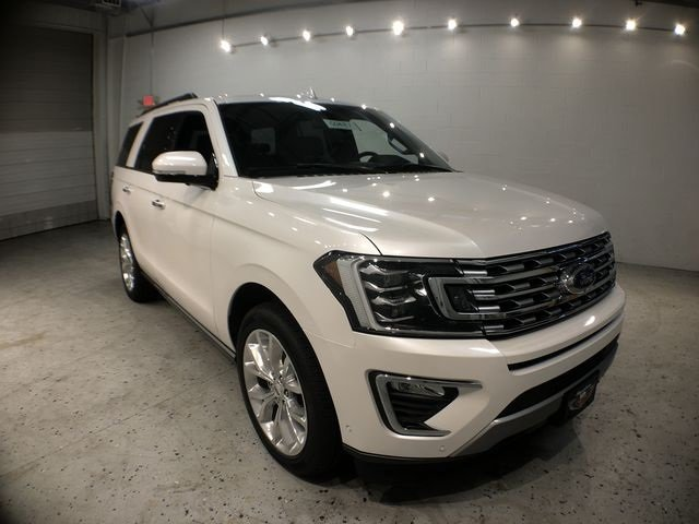 2018 White Metallic Ford Expedition Limited Automatic 4 Door EcoBoost 3.5L V6 GTDi DOHC 24V Twin Turbocharged Engine 4X4 SUV