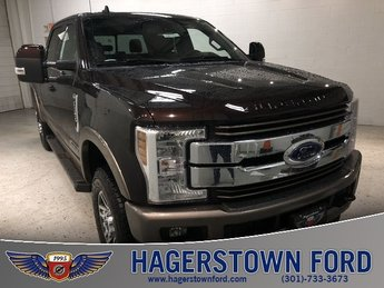 2019 Magma Red Metallic Ford Super Duty F-350 SRW King Ranch Truck Automatic 4X4 4 Door Power Stroke 6.7L V8 DI 32V OHV Turbodiesel Engine