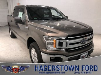 2018 Stone Gray Ford F-150 XLT 4X4 Automatic 4 Door Truck 5.0L V8 Engine