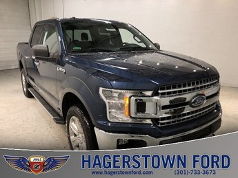2018 Blue Ford F-150 XLT 5.0L V8 Ti-VCT Engine Automatic 4 Door Truck