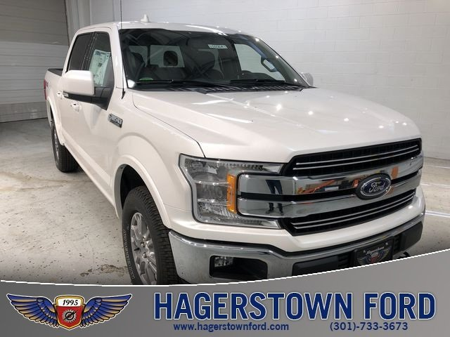 2018 White Ford F-150 Lariat 4X4 5.0L V8 Ti-VCT Engine Truck 4 Door Automatic