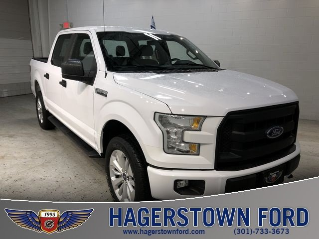 2016 Oxford White Ford F-150 XL 4 Door 5.0L V8 FFV Engine Truck Automatic 4X4