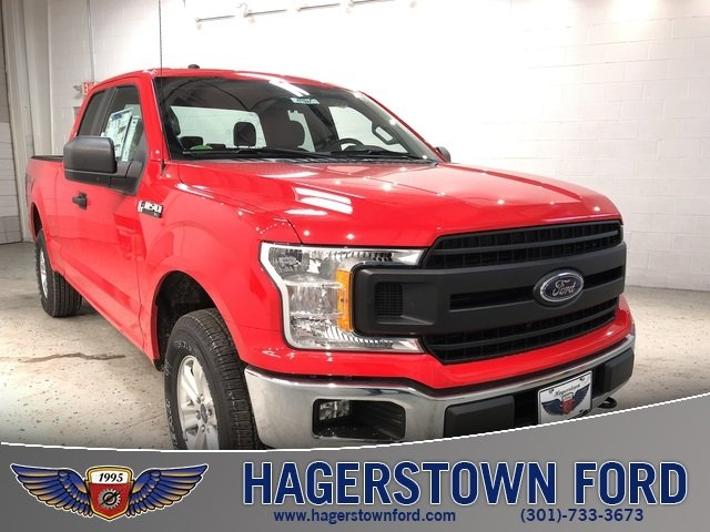 2018 Race Red Ford F-150 XL EcoBoost 2.7L V6 GTDi DOHC 24V Twin Turbocharged Engine 4X4 Truck 4 Door Automatic