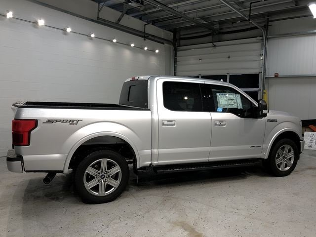 2018 Ingot Silver Metallic Ford F-150 Lariat 3.0L Diesel Turbocharged Engine Truck 4 Door Automatic 4X4