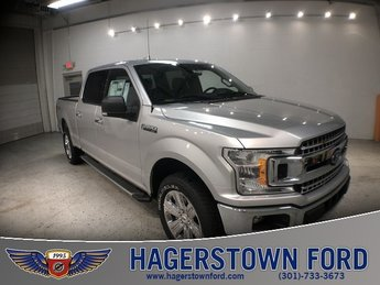 2018 Ingot Silver Metallic Ford F-150 XLT 4X4 4 Door EcoBoost 3.5L V6 GTDi DOHC 24V Twin Turbocharged Engine Truck