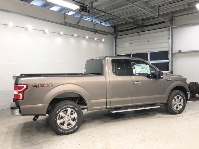2018 Stone Gray Ford F-150 XLT Truck 4X4 5.0L V8 Ti-VCT Engine 4 Door Automatic