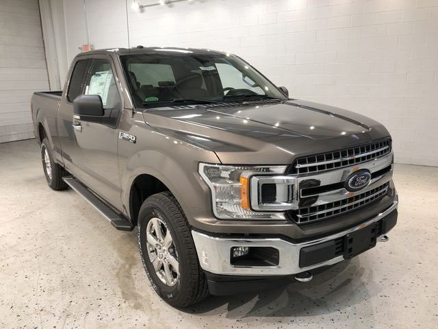 2018 Stone Gray Ford F-150 XLT Truck 4X4 5.0L V8 Ti-VCT Engine