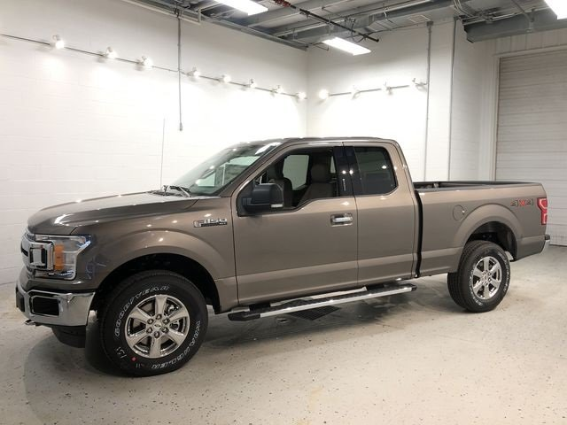 2018 Stone Gray Ford F-150 XLT Truck 4X4 5.0L V8 Ti-VCT Engine Automatic
