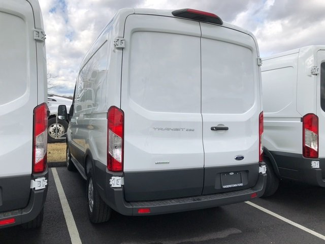 2018 Oxford White Ford Transit-250 Base 3 Door Automatic EcoBoost 3.5L V6 GTDi DOHC 24V Twin Turbocharged Engine Van