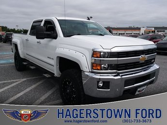 2015 Summit White Chevy Silverado 2500HD LTZ 4X4 Automatic 4 Door Truck Vortec 6.0L V8 SFI Flex Fuel VVT Engine