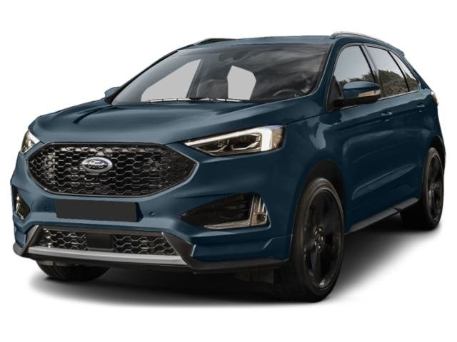 2019 Blue Metallic Ford Edge Titanium 2.0L Engine SUV 4 Door FWD