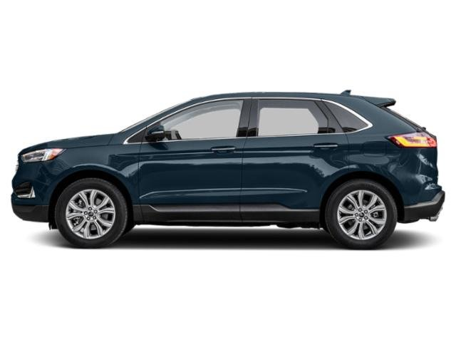 2019 Blue Metallic Ford Edge Titanium 4 Door Automatic FWD SUV 2.0L Engine