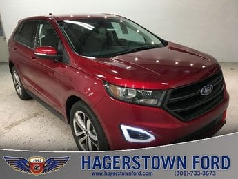 2018 Ruby Red Metallic Tinted Clearcoat Ford Edge Sport AWD Automatic 4 Door SUV EcoBoost 2.7L V6 GTDi DOHC 24V Twin Turbocharged Engine