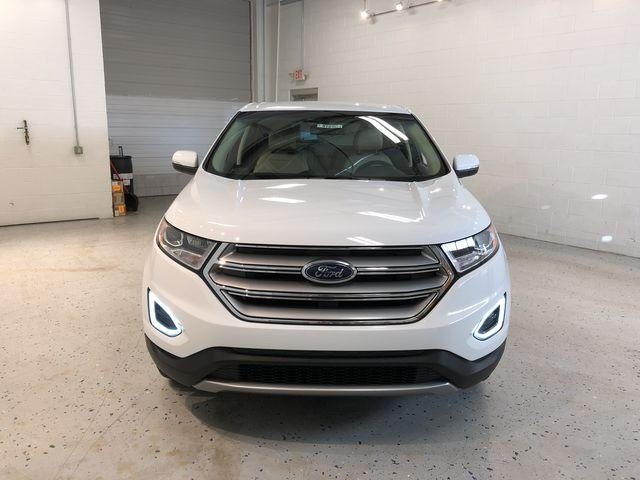 2018 Oxford White Ford Edge SEL Automatic EcoBoost 2.0L I4 GTDi DOHC Turbocharged VCT Engine SUV