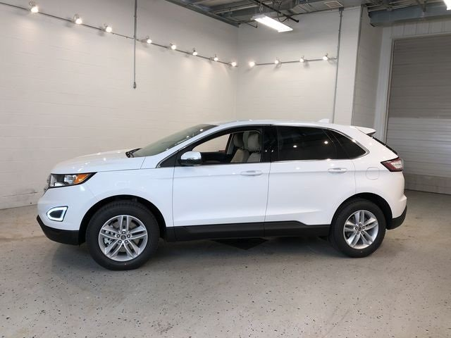 2018 Oxford White Ford Edge SEL SUV EcoBoost 2.0L I4 GTDi DOHC Turbocharged VCT Engine AWD