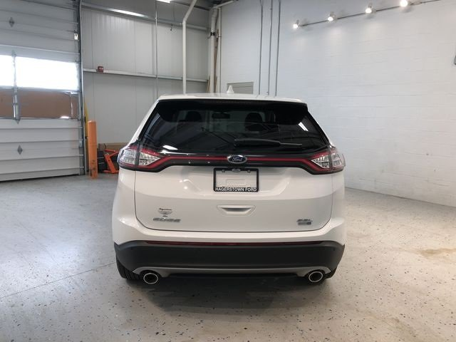 2018 Oxford White Ford Edge SEL Automatic 4 Door AWD SUV EcoBoost 2.0L I4 GTDi DOHC Turbocharged VCT Engine