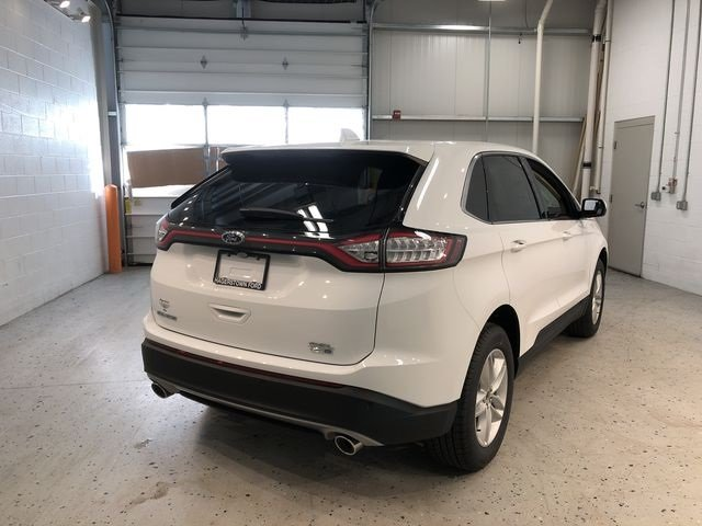 2018 Oxford White Ford Edge SEL EcoBoost 2.0L I4 GTDi DOHC Turbocharged VCT Engine 4 Door SUV AWD Automatic