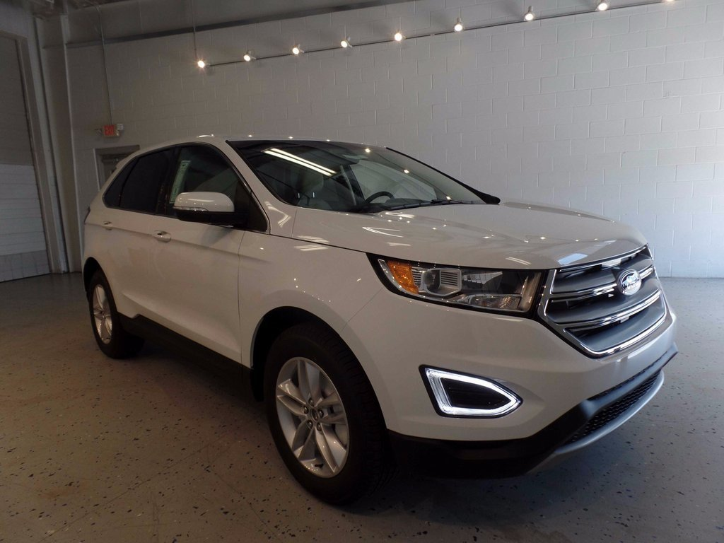 Oxford White Ford Edge Sel Awd Suv  Door Ecoboost  L I Gtdi Dohc