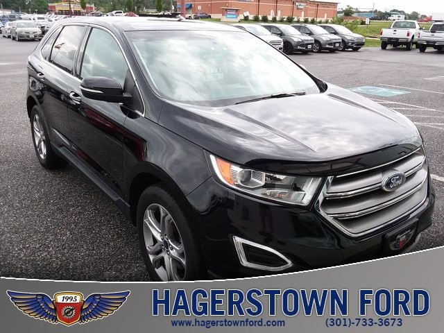 2016 Shadow Black Ford Edge Titanium 4 Door Automatic 3.5L V6 Ti-VCT Engine AWD SUV
