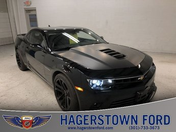2015 Black Chevy Camaro SS Manual RWD 2 Door Coupe 6.2L V8 SFI Engine