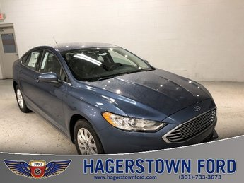 2018 Blue Metallic Ford Fusion S Automatic Sedan 4 Door FWD