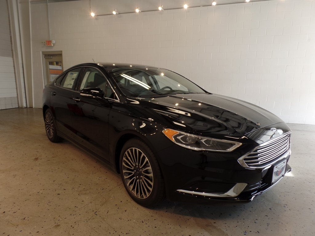 2018 Shadow Black Ford Fusion SE Automatic 4 Door EcoBoost 1.5L I4 GTDi DOHC Turbocharged VCT Engine FWD