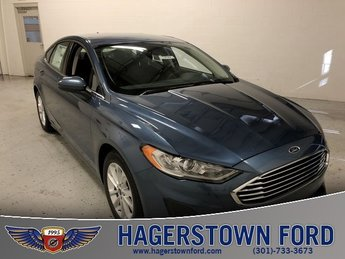 2019 Blue Metallic Ford Fusion SE Automatic FWD EcoBoost 1.5L I4 GTDi DOHC Turbocharged VCT Engine
