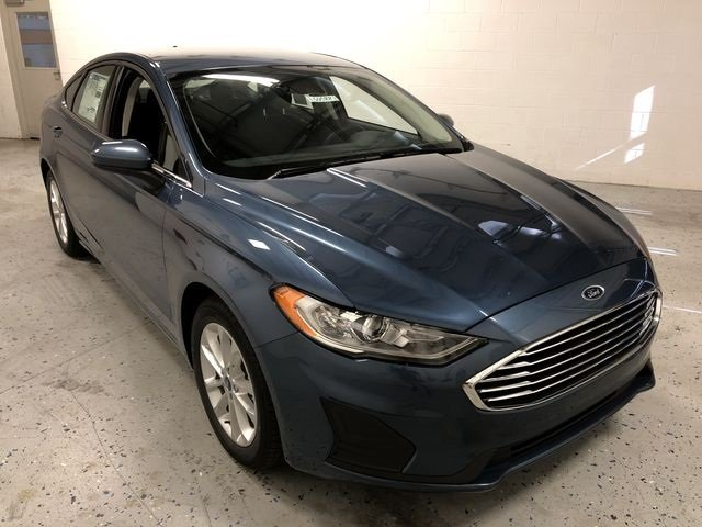 2019 Blue Metallic Ford Fusion SE FWD Sedan EcoBoost 1.5L I4 GTDi DOHC Turbocharged VCT Engine Automatic 4 Door