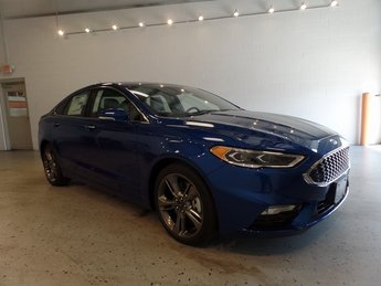 2017 Lightning Blue Ford Fusion Sport V6 Engine Sedan Automatic 4 Door