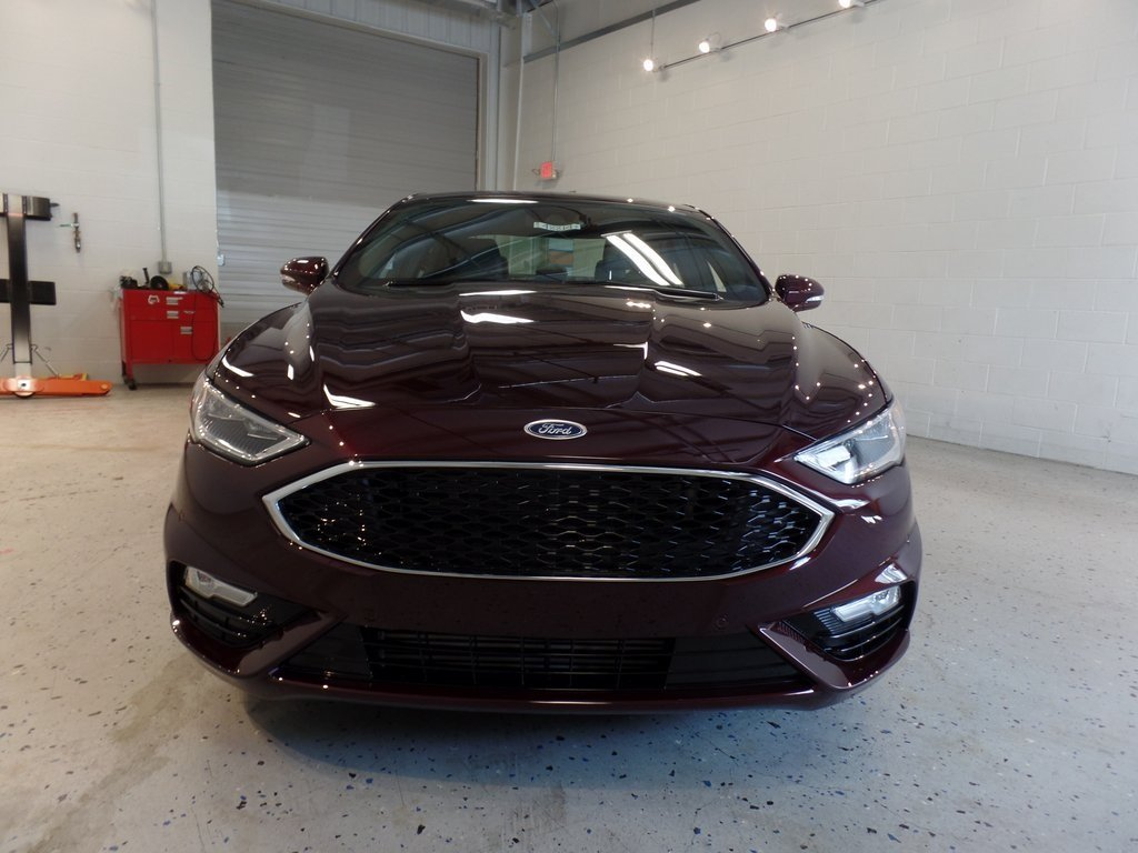 2017 Burgundy Velvet Metallic Tinted Clearcoat Ford Fusion Sport V6 Engine Automatic 4 Door AWD Sedan