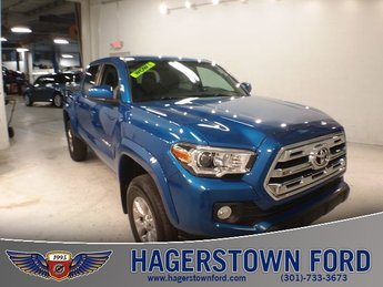 2017 Blazing Blue Pearl Toyota Tacoma SR5 Truck 4X4 V6 Engine 4 Door Automatic