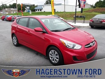 2017 Boston Red Metallic Hyundai Accent SE Hatchback 1.6L I4 DGI DOHC 16V Engine FWD Automatic