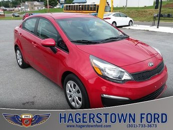 2017 Signal Red Kia Rio LX FWD Automatic 1.6L I4 DGI 16V Engine Sedan 4 Door