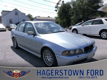 2002 Blue BMW 5 Series 530i RWD 3.0L I6 DOHC SMPI Engine 4 Door Automatic Sedan
