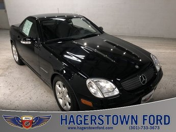 2004 Obsidian Black Metallic Mercedes-Benz SLK SLK 230 Automatic Convertible RWD 2 Door 2.3L I4 16V Supercharged Intercooled Engine