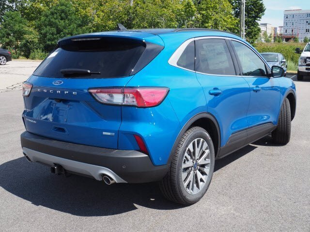 2020 Velocity Blue Metallic Ford Escape Titanium SUV AWD Automatic 4 Door 2.0L 4 cyls Engine