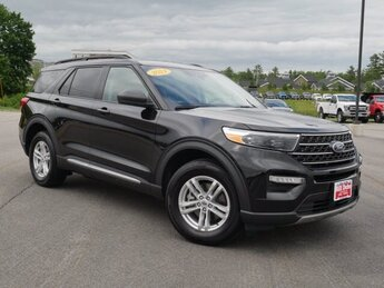 2021 Agate Black Metallic Ford Explorer XLT SUV 4X4 4 Door 2.3L 4 cyls Engine Automatic