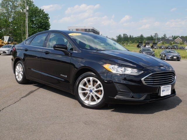 Black Ford Fusion >> Used 2019 Ford Fusion Hybrid Se Fwd Sedan For Sale In Dover Nh