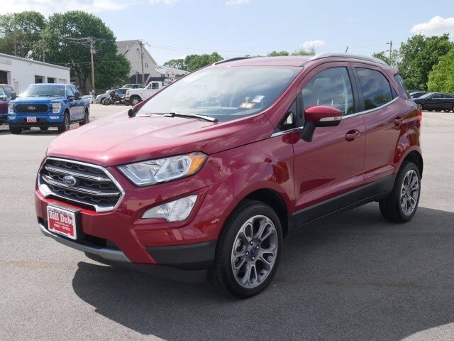 2020 Ruby Red Metallic Tinted Clearcoat Ford EcoSport Titanium SUV 4X4 Automatic 4 Door
