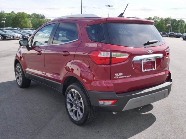 2020 Ruby Red Metallic Tinted Clearcoat Ford EcoSport Titanium 2.0L 4 cyls Engine Automatic 4 Door