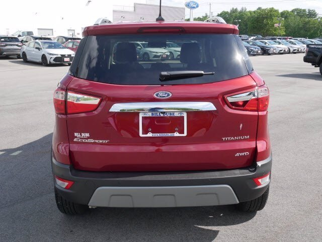 2020 Ruby Red Metallic Tinted Clearcoat Ford EcoSport Titanium 2.0L 4 cyls Engine SUV 4X4 4 Door Automatic