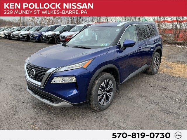 2021 Caspian Blue Metallic Nissan Rogue SV AWD SUV 4 Door 2.5L I4 DOHC 16V Engine