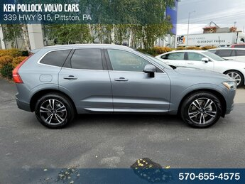 2021 Gray Volvo XC60 T6 Momentum SUV I4 Supercharged Engine AWD 4 Door