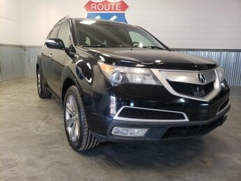 2013 Black Acura MDX Advance Pkg SUV AWD 3.7L V6 SOHC VTEC 24V Engine 4 Door