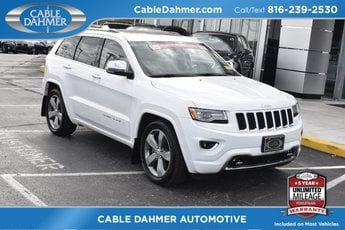 2014 Bright White Clearcoat Jeep Grand Cherokee Overland 3.0L V6 Turbodiesel Engine 4 Door SUV 4X4 Automatic