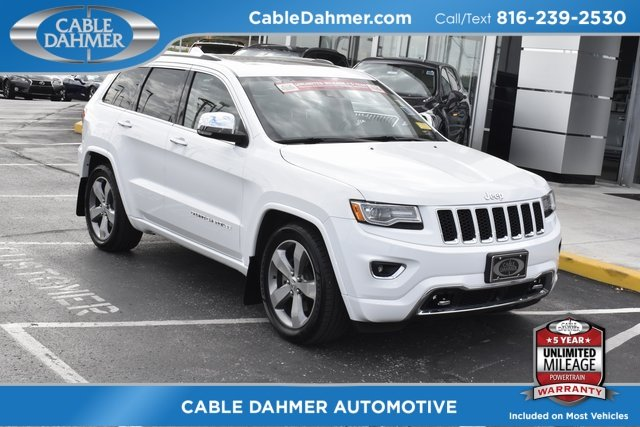 2014 Bright White Clearcoat Jeep Grand Cherokee Overland 4 Door 3.0L V6 Turbodiesel Engine Automatic SUV 4X4