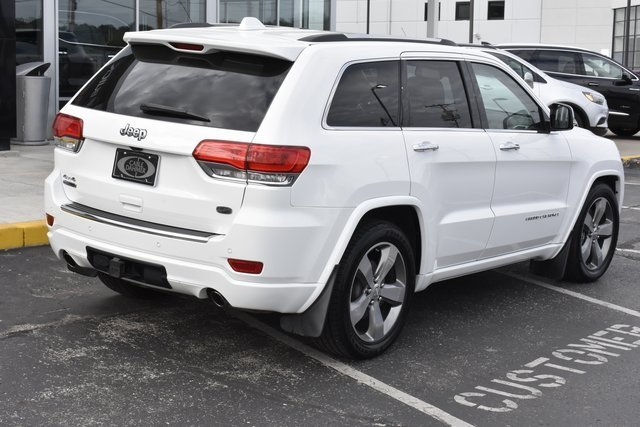 2014 Bright White Clearcoat Jeep Grand Cherokee Overland 4 Door 3.0L V6 Turbodiesel Engine 4X4 SUV