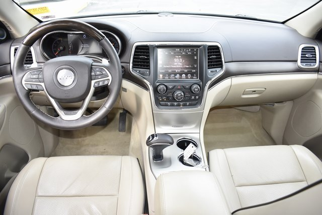 2014 Bright White Clearcoat Jeep Grand Cherokee Overland 4X4 SUV Automatic