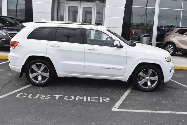 2014 Bright White Clearcoat Jeep Grand Cherokee Overland SUV 4 Door 4X4 Automatic