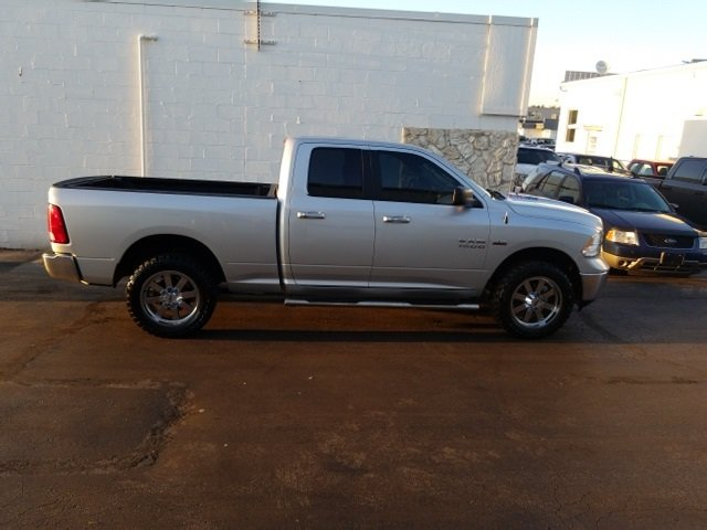 2014 Bright Silver Metallic Clearcoat Ram 1500 Big Horn Truck HEMI 5.7L V8 Multi Displacement VVT Engine Automatic 4 Door
